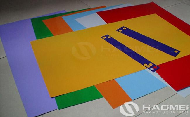 pe color coated aluminum sheet factory