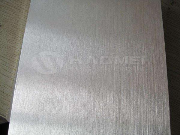 brushed aluminum sheet metal