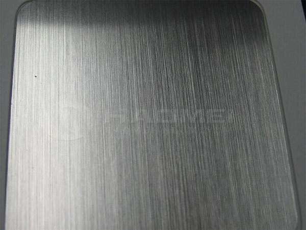 brushed aluminum finish
