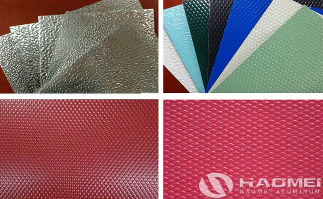 color coated stucco embossed aluminum