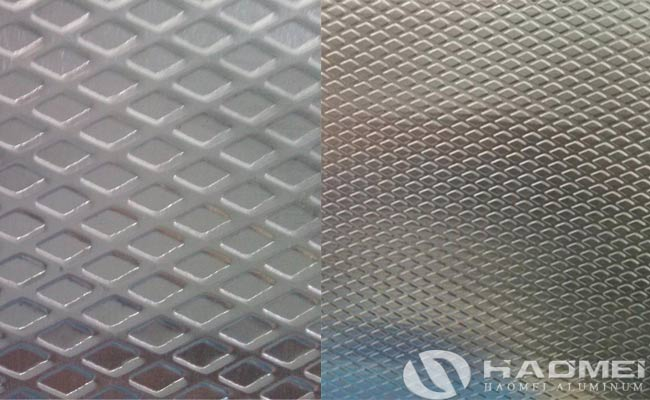 rhombus pattern aluminum embossed sheet