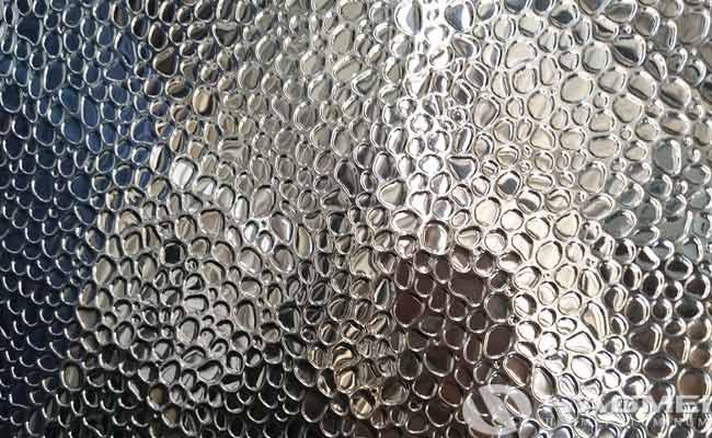 mirror finish embossed aluminium