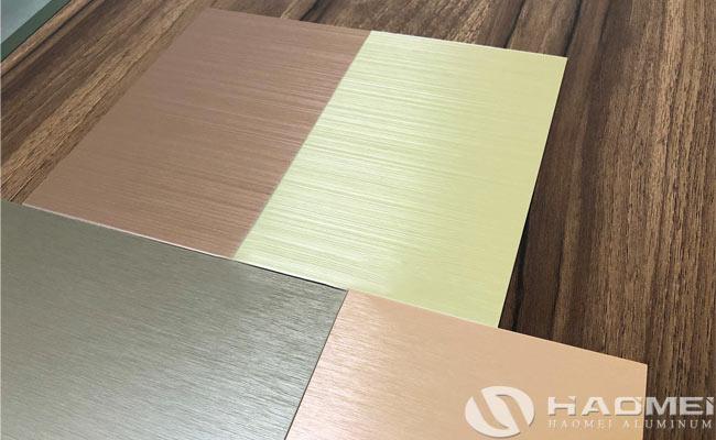 aluminium sheet brush finish