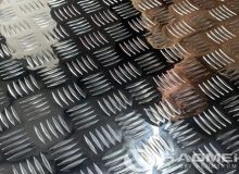 5 bar aluminum tread plate