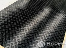 black aluminum checker plate