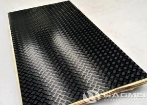 black aluminum tread plate