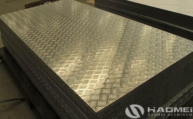 five bar aluminum tread plate factory