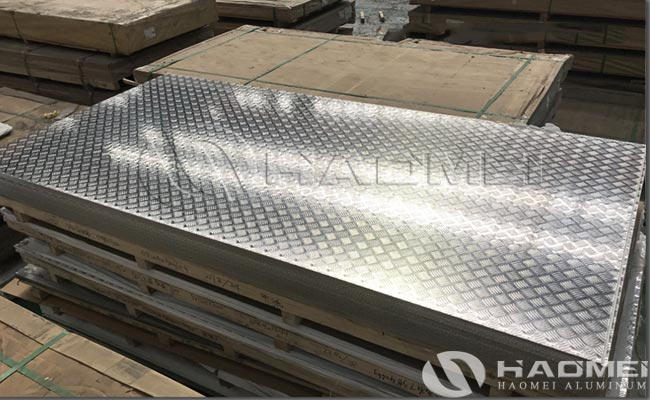 five bar aluminum tread plate manufacturer