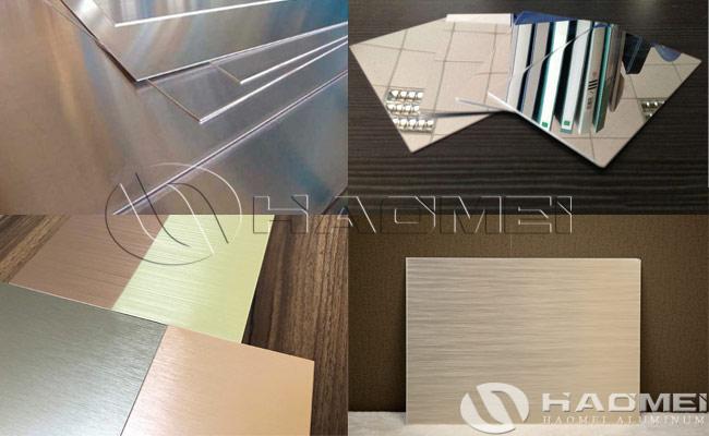 aluminum sheet metal finishes