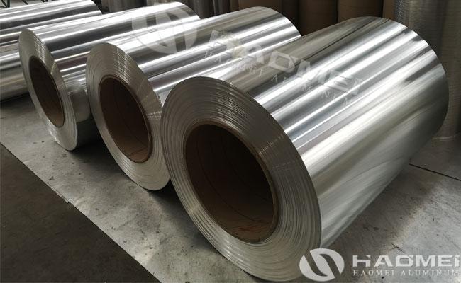 rolls of aluminum sheeting