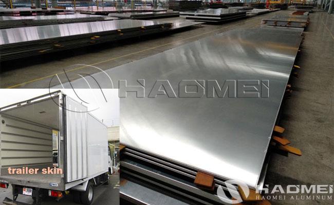 aluminum skin for trailer