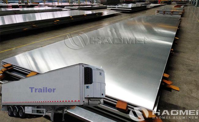 Trailer skin aluminum